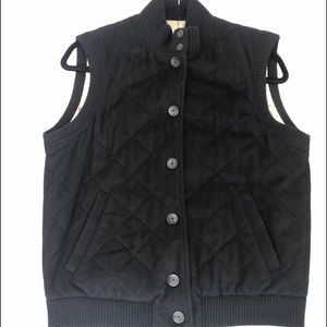 Loro Piana 100% Cashmere Quilted Vest Black M